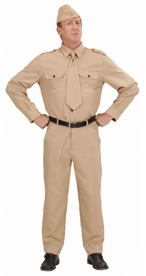 WW2 Men's Soldier Plus size Costume (7662)
